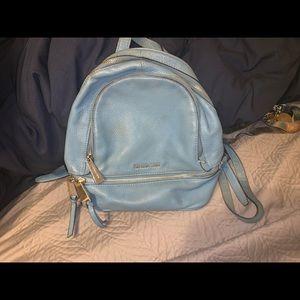 Baby blue used Michael kors backpack